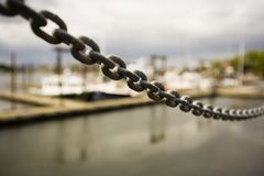Up-Close Of Metal Chain Stock Image