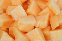 Chopped Canteloupe Royalty Free Stock Images