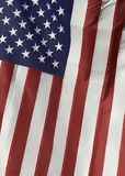American flag depicting Stars and Stripes as a background royalty free stock image