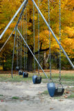 Up Close of Swings in the Fall Stock Photo