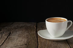 сup of coffee with thick of crema Stock Image