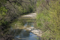 Up a Creek. A view of a creek near Killeen, Texas Stock Image