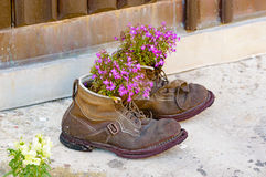 Up cycled boots Royalty Free Stock Images