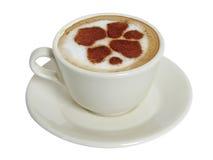 ?up del café-cappuccino Foto de archivo libre de regalías
