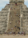 Up & Down (2). Chichen Itza, Mexico Stock Images