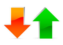 Up and down arrow. Isolated Royalty Free Stock Photo