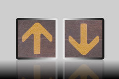 The up and down arrow Royalty Free Stock Photography