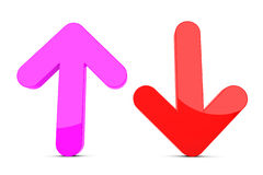 Up and down arrow sign Royalty Free Stock Image