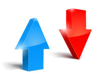 Up and down arrows set icon Royalty Free Stock Photo