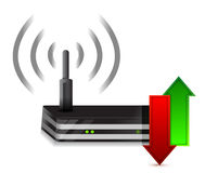 Up and down arrows Wireless Router stock illustration