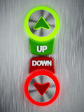 Up and down buttons Royalty Free Stock Photo