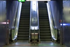 Cologne subway station. Up and down with the escalator Royalty Free Stock Photography
