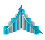 Up and down financial chart illustration Stock Image