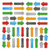 Up, down, left and right arrows Stock Images