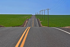 Up And Down Rural Highway Stock Images