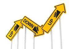 Up and down Royalty Free Stock Image