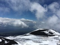 Up Etna. Up fron Vulcano Stock Photos
