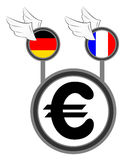 Up euro Stock Images