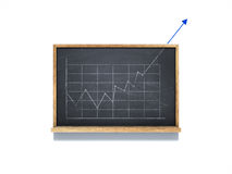 Up graphic sketch on chalkboard. On white background Stock Image