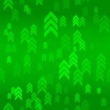 Up Green Arrow Seamless Pattern Background. Vector Illustration Stock Photo