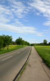 Up the hill. Empty road in the countryside royalty free stock images