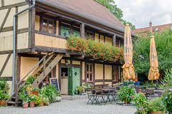 Up-Hus田园诗-餐馆和旅馆用木材建造h的最老的 图库摄影