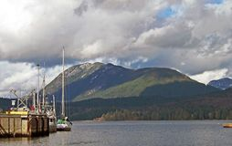 Up the Inlet. View looking up Sechelt Inlet from Porpoise Bay Stock Images