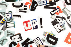 Up inscription Stock Photos