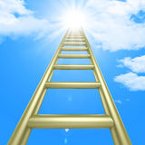 Up Ladders Indicates Raise Improvement And Improve Stock Images