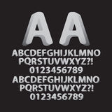 Up Left and Right Rounded Isometric Font and Numbe Stock Photo