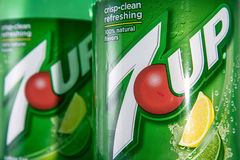 7-up 2 liter bottle Royalty Free Stock Photography