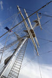 Up The Mast. Tall Ship's Mast royalty free stock images