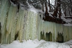 Ice caves in UP of Michigan royalty free stock photo