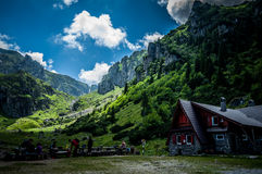 Up in the mountains. Malaiesti chalet in Carpathians mountains Stock Images