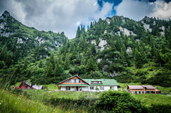 Up in the mountains. Malaiesti chalet in Carpathians mountains Royalty Free Stock Image