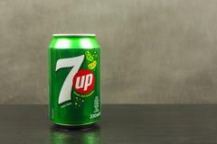 7up non-caffeinated miękki napój doprawiający wapno Obraz Stock