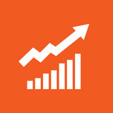 Up raiting icon simple vector illustration Royalty Free Stock Photos