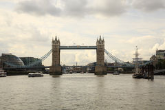 Up the river to London Bridge Royalty Free Stock Photo