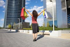 Up shopping woman Stock Photography