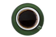 Up shot of green coffee cup Stock Photo