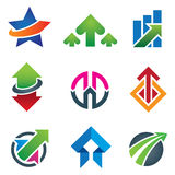 Up star arrow business marketing and finance economy icon set. Enjoy Royalty Free Stock Images
