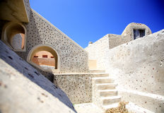 Up the steps in Santorini Royalty Free Stock Photography