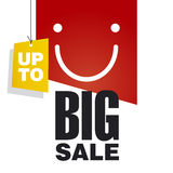 Up to Big Sale red background. Up to Big Sale discount offer red background Stock Photography
