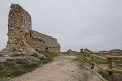 Up to the castle of San Esteban de Gormaz Royalty Free Stock Image