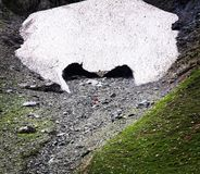 Up to glacier. Trek inside of glacier in Sonomarg. Kashmir, India Royalty Free Stock Image