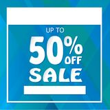 Up To 50% Off Sale Poster Banner. Up To 50% Off Sale Poster or Banner Template. Fill in your information Stock Photography