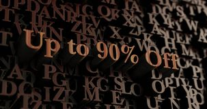 Up to 90% Off - Wooden 3D rendered letters/message Stock Images