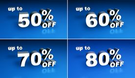 Up To Percent Off Two Royalty Free Stock Images