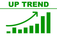 Up trend chart. Chat illustration of upward trend can be used for indicating positive progress of any sector Vector Illustration