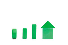 Up trend made of blocks Royalty Free Stock Images